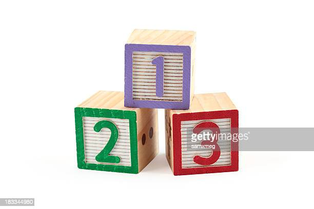 Children's wooden number blocks