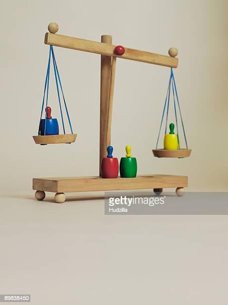 Children's wooden scales