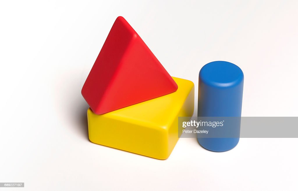 Childs building blocks with copy space : Stock Photo