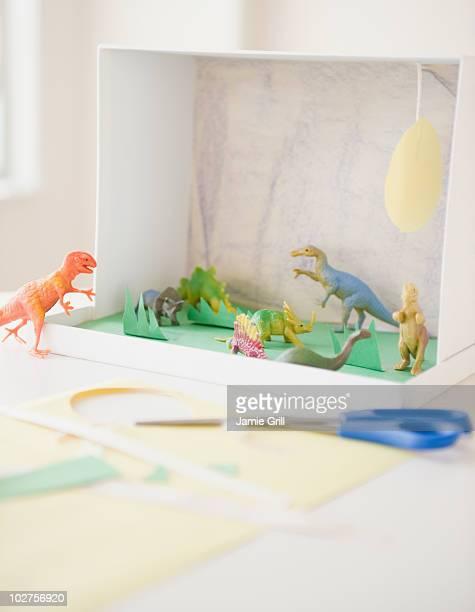 Child's dinosaur project