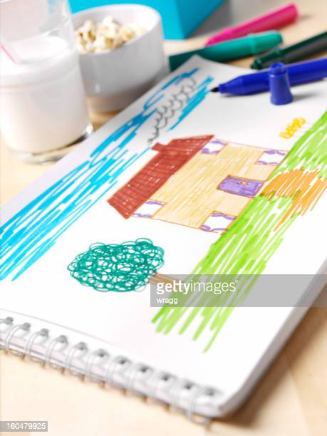 Child's Drawing of Home