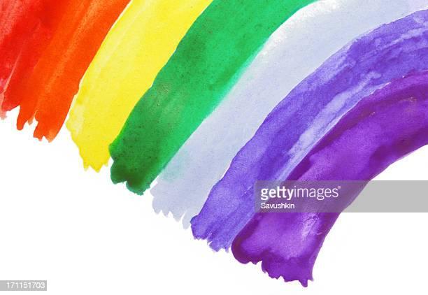 disegno di bambino-arcobaleno - arcobaleno foto e immagini stock