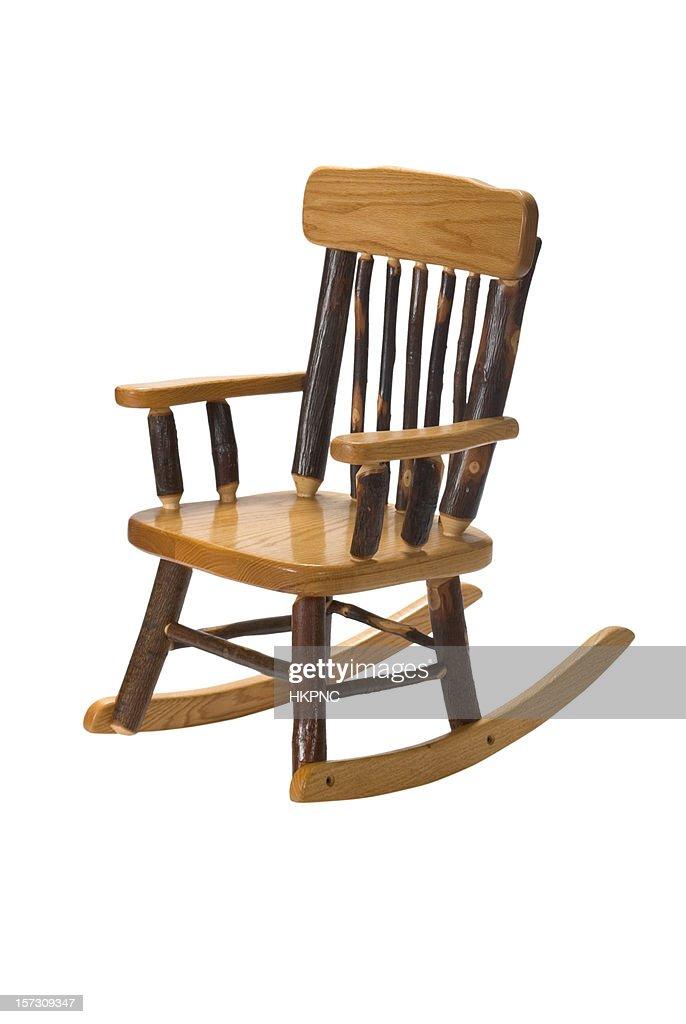 Childu0027s Furniture Amish Rocking Chair Hickory : Stock Photo