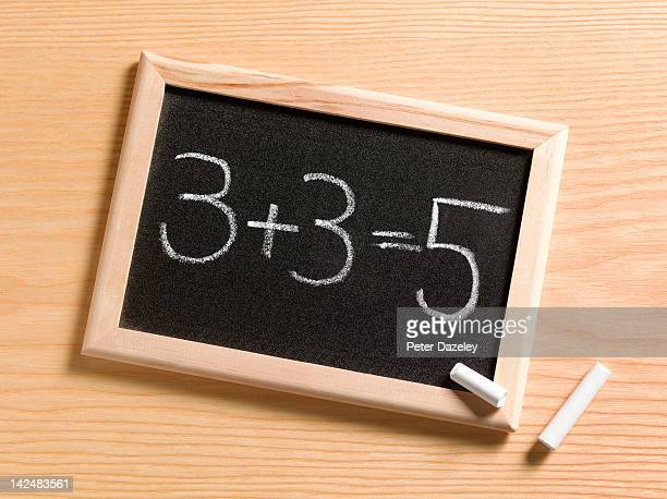 child's incorrect maths answer - mistake stock pictures, royalty-free photos & images