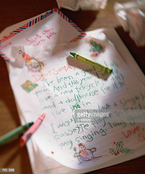 Child's letter to Santa Claus