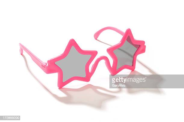 Child's pink star shaped sunglasses-isolated on white