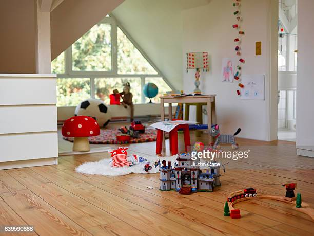 Child's room with various toys