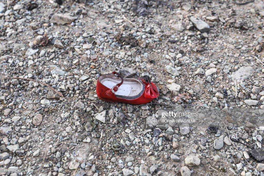 TOPSHOT-IRAN-UKRAINE-CANADA-AVIATION-ACCIDENT : News Photo
