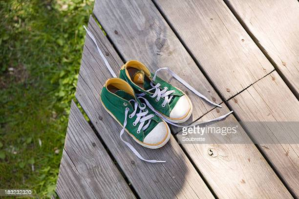 child's sneakers - childhood stock pictures, royalty-free photos & images