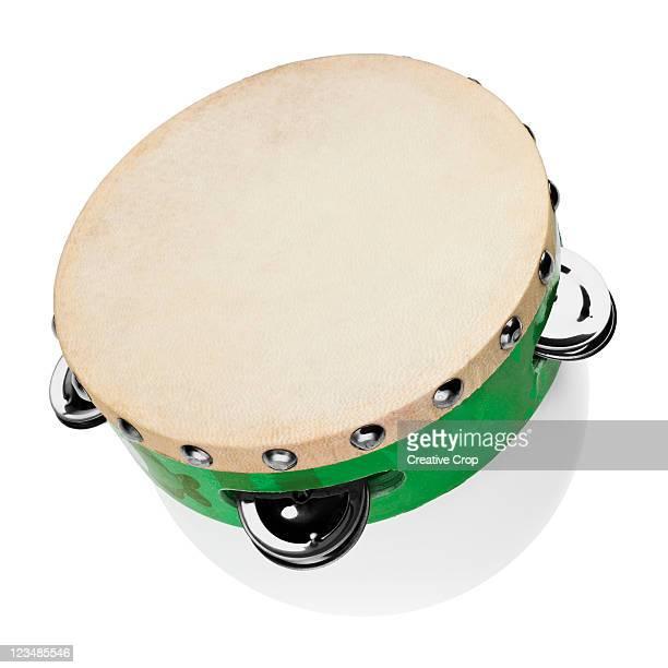 childs tambourine - tambourine foto e immagini stock
