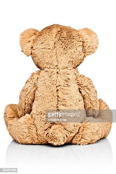 Child's teddy bear, rear view