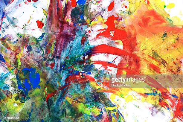 child's tempera paint on paper - splattered stock pictures, royalty-free photos & images