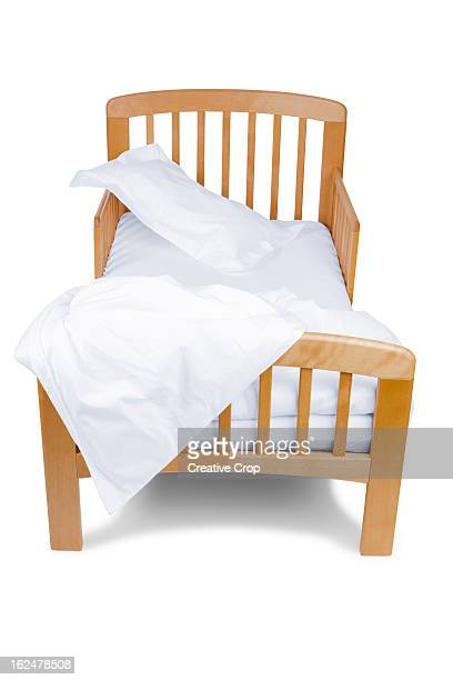 Child's un-made bed