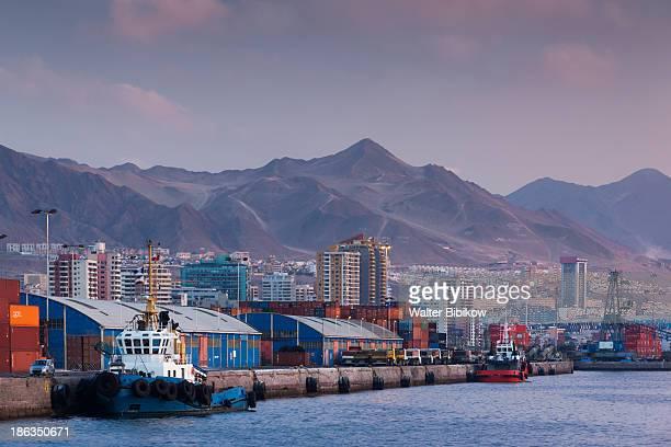 chile, antofagasta, harbor and port - antofagasta region stock photos and pictures