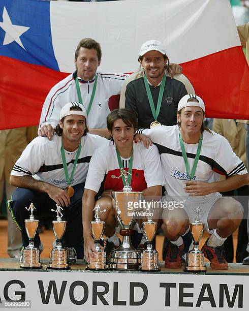 Chile celebrates after winning the ATP 2004 ARAG World Team Cup at the Rochusclub on May 22 2004 in Dusseldorf Germany