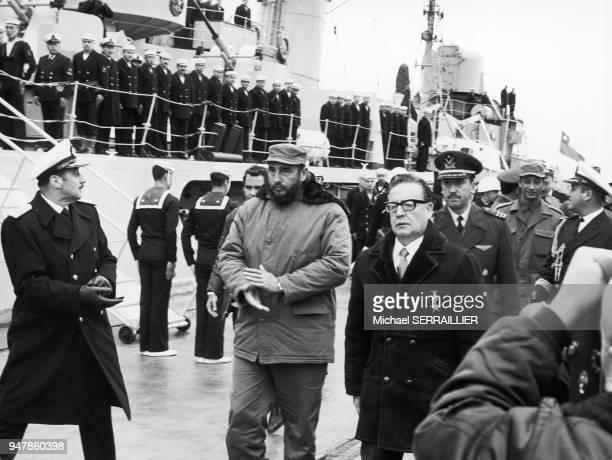 Fidel CASTRO and Salvador ALLENDE in Punta Arenas 19711100 Chili Fidel CASTRO et Salvador ALLENDE à Punta Arenas 19711100