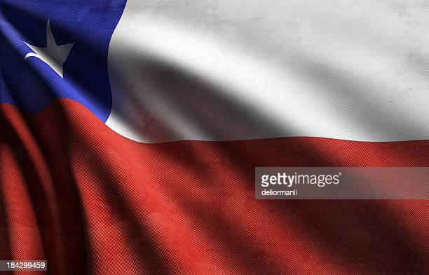 bandiera del cile - bandiera del cile foto e immagini stock