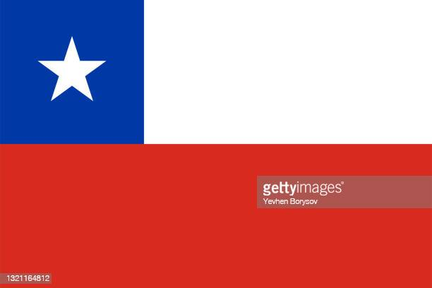 chile flag simple illustration for independence day or election - bandiera del cile foto e immagini stock