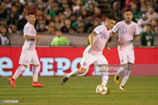 Chile midfielder Charles Aránguiz during the International match between the Mexico National Team and Chile on March 22, 2019 at SDCCU Stadium in San...