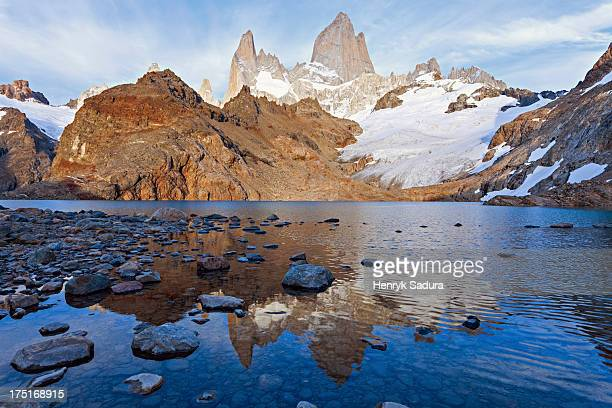 Chile, Patagonia, Los Glaciares National Park, Landscape with lake