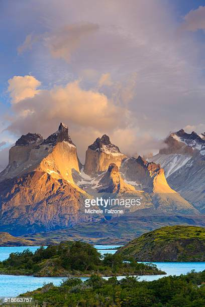 chile, patagonia, torres del paine national park - patagonia chile stock photos and pictures