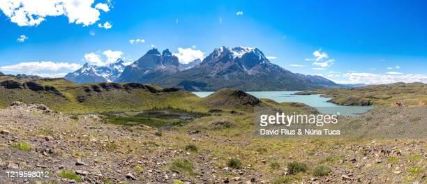chile, patagonian region, torres del paine national park - 岩層 ストックフォトと画像