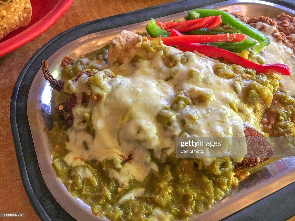 Chile relleno plate : Stock Photo