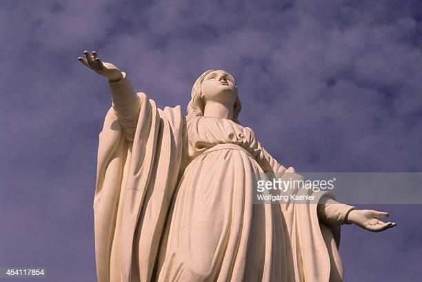 Chile Santiago Cerro San Cristobal Statue Of Virgin Mary
