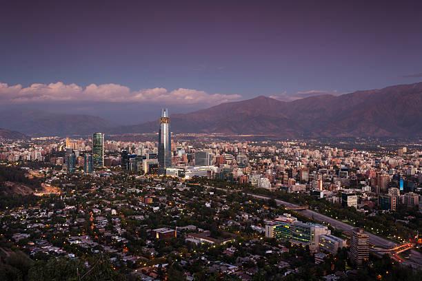 Chile, Santiago, City View Wall Art