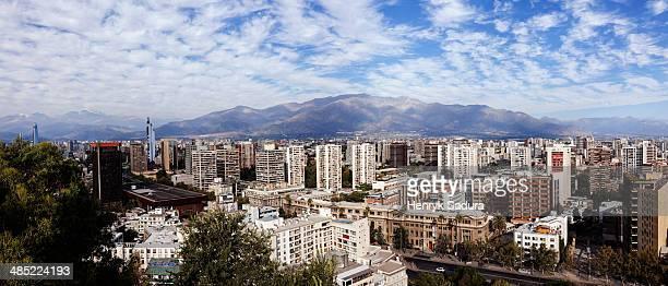 chile, santiago de chile, cityscape - santiago região metropolitana de santiago - fotografias e filmes do acervo