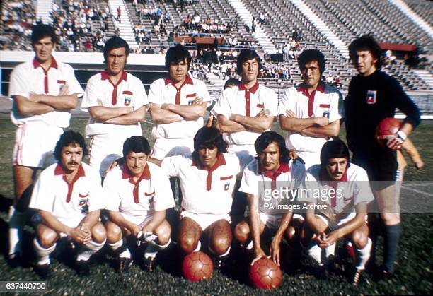 Chile team group featuring Carlos Caszely
