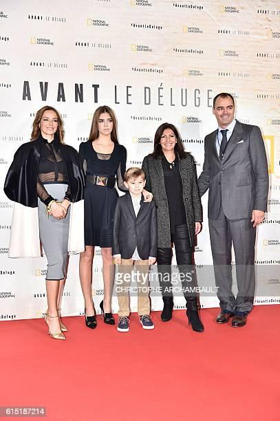 Chilean actress Carolina Parsons, Paris mayor Anne Hidalgo, Global Fundraising Chairman of the Leonardo DiCaprio Foundation , Russia's Milutin Gatsby...