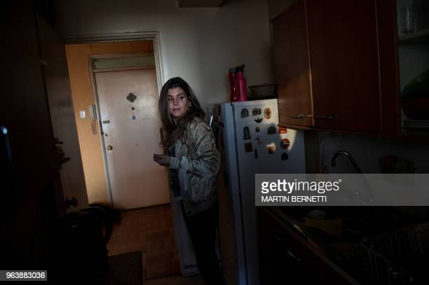 Chilean AIDS patient Carolina Del Real is pictured at her home in Santiago on April 27 2018 Carolina was infected with HIV in 2010 Last year Chile...