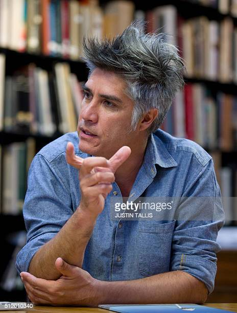 Chilean architect Alejandro Aravena gives an interview to AFP in London on February 23 2016 / AFP / JUSTIN