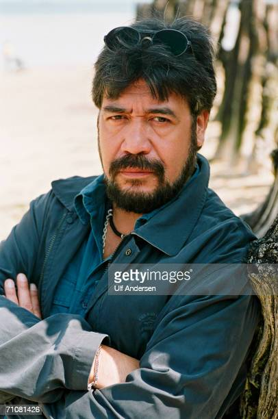 Chilean author Luis Sepulveda poses while at the Saint Malo Book Fair in Saint Malo France on the 30th of May 2001