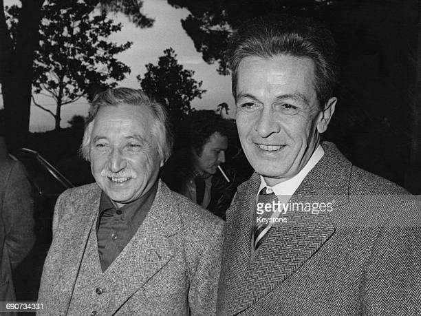 Chilean Communist leader Luis Corvalan with Italian politician Enrico Berlinguer national secretary of the Italian Communist Party during a visit to...