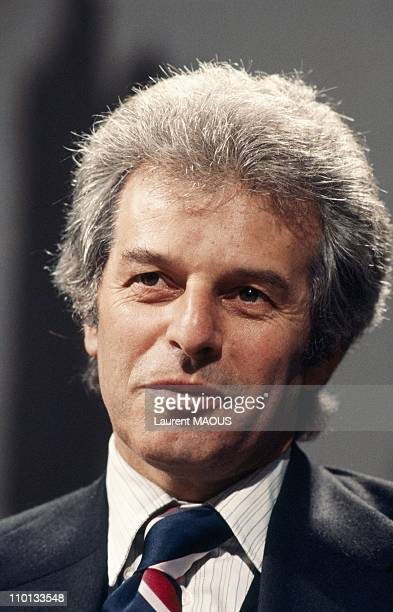 Chilean director and comics screenplayer Alejandro Jodorowski at a Tv show on April 25th1978