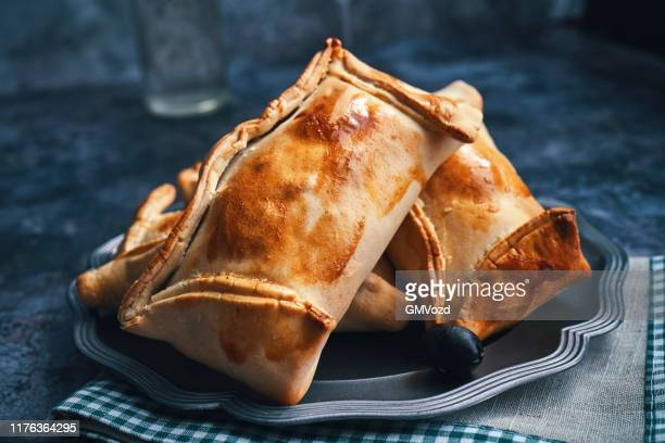 chilean empanadas with meat - empanada stock pictures, royalty-free photos & images
