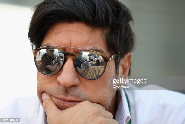 Chilean football legend Ivan Zamorano in the Paddock during previews to the Formula One Grand Prix of Mexico at Autodromo Hermanos Rodriguez on...