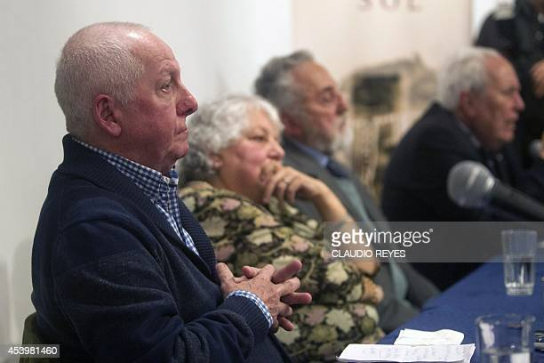 """Chilean George Schindler gestures during a press conference during the launching of the book """"La Lista de Schindler Chileno"""" written by Manuel..."""