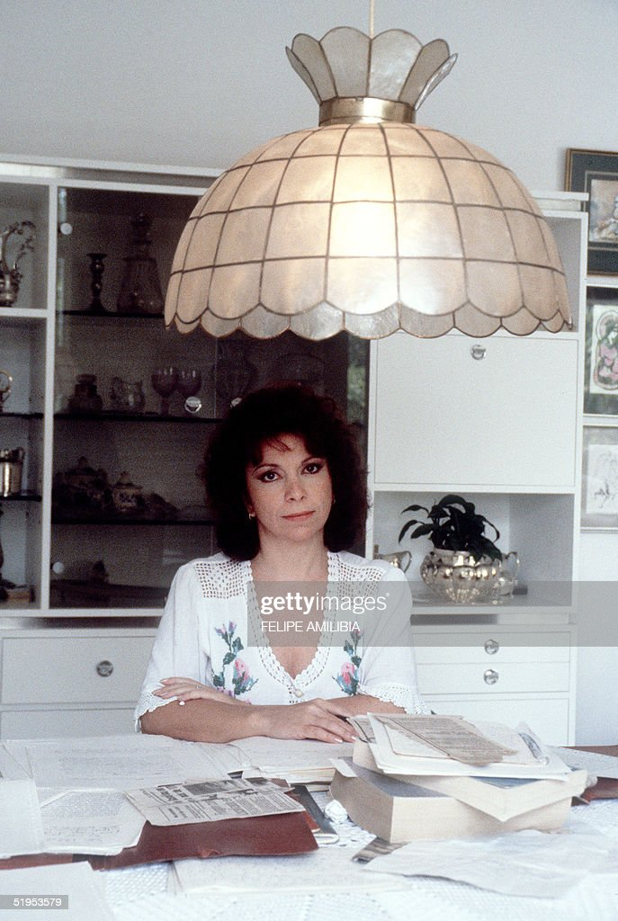 Chilean Isabel Allende, author of novel 'The House of Spirits' about a Chilean family in the Chile of the 20th century, poses for the photographer in her house in Caracas, 05 February 1985. Allende is a former journalist and the niece of Marxist President Salvatore Allende.