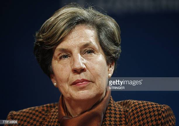 Chilean legislator and daughter of former Chilean President Salvador Allende Isabel Allende attends a meeting of leftist democratic parties and...