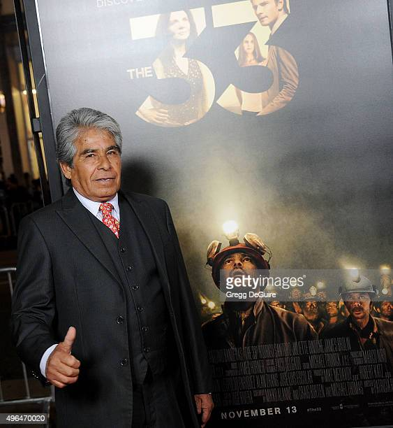 Chilean miner Mario Gomez arrives at the AFI FEST 2015 Presented By Audi Centerpiece Gala Premiere of 'The 33' at TCL Chinese Theatre on November 9...