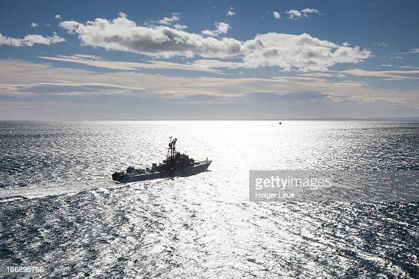 chilean navy warship - warship stock pictures, royalty-free photos & images