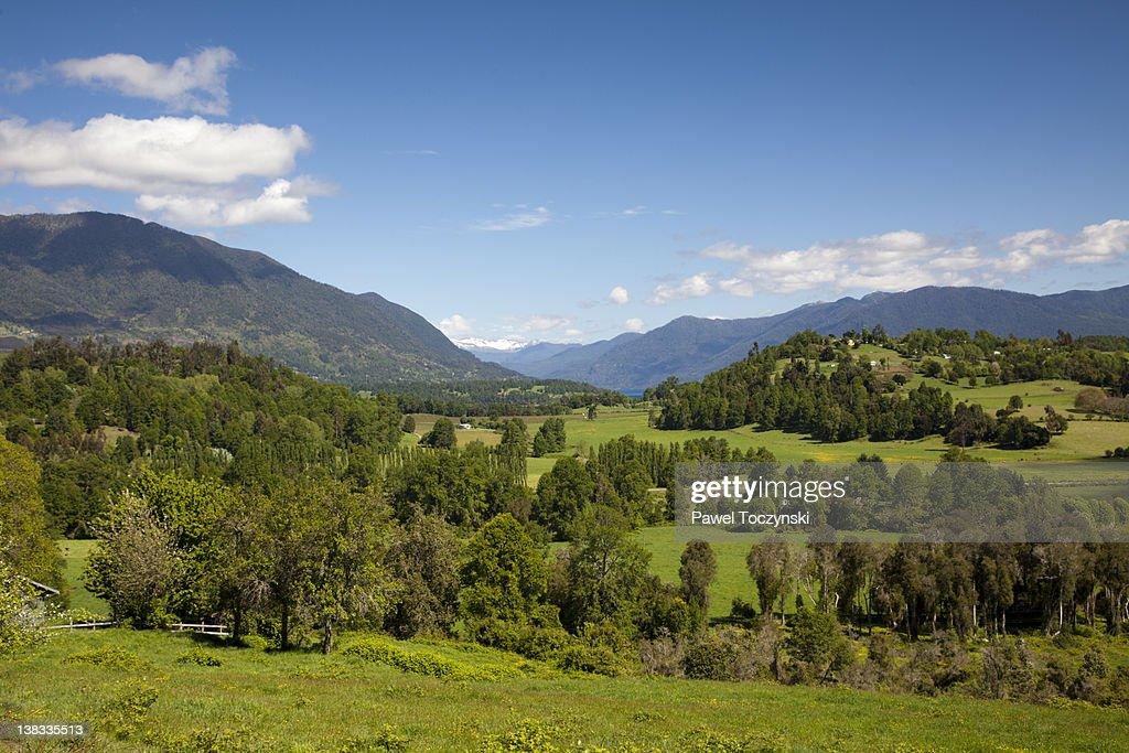 Chilean Seven Lakes district : Stock Photo