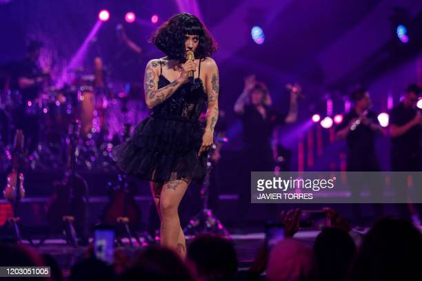 Chilean singer Mon Laferte performs during the 61th Vina del Mar International Song Festival in Vina del Mar Chile on February 24 2020
