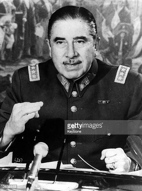 Chilean soldier and politician Augusto Pinochet Ugarte In 1973 he led a coup which ousted and resulted in the death of the Marxist President Salvador...