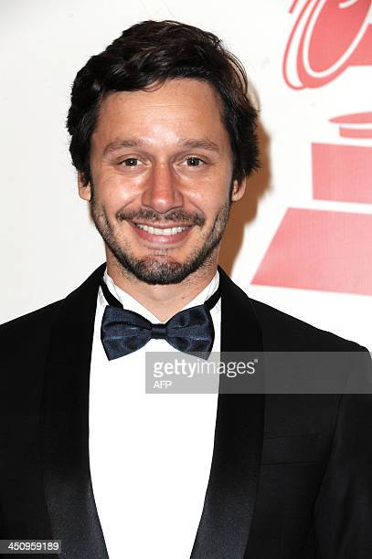 Chilean television actor Benjamin Vicuna arrives for the 2013 Latin Recording Academy Person of the Year Tribute Gala November 20 2013 at the...