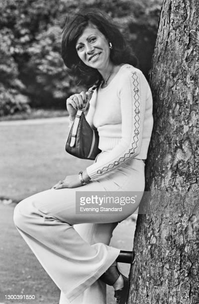 Chilean tennis player Ana Maria Arias Pinto Bravo, formerly Ana Maria Arias, UK, 25th June 1972. She is married to Chilean tennis player Jaime Pinto...