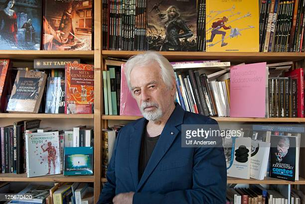 PARIS FRANCE SEPTEMBER 16 Chilean writer Alexandro Jodorowsky poses at home during photo session held on September 16 2011 in Paris France